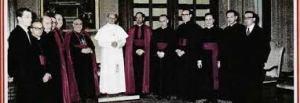 La foto della Segreteria del Concilio posta sulla copertina dell'edizione del diario conciliare di P. Felici