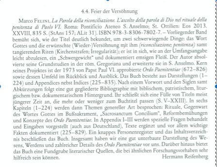Recensione in tedesco